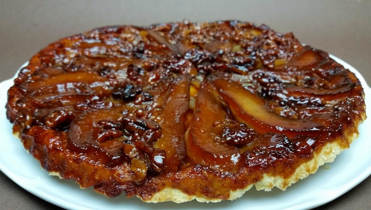 mariatotal tarte tatin aux poires et aux noix